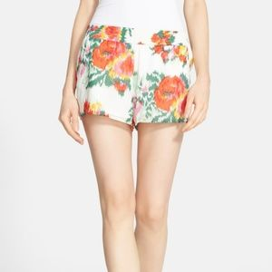 NWT Joie Silk Floral Lanina Cream Red Shorts